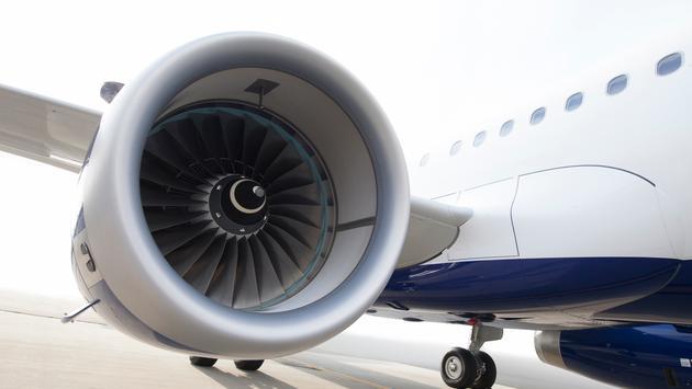 JetBlue Airbus A321 jet engine