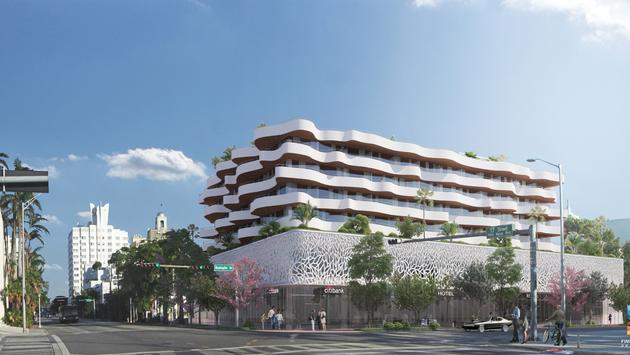 Rendering of the New Thompson Hotel, Miami