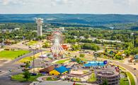 Aerial view of Branson, Missouri