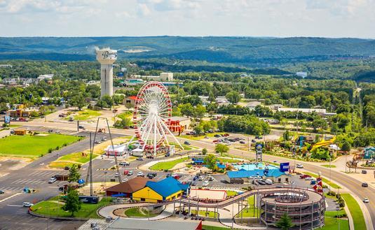 Aerial view of Branson, Missouri