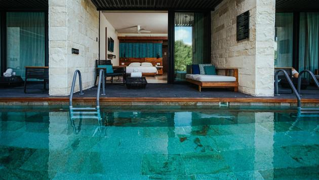 Swim-Up Room at Grand Hyatt Playa del Carmen, Mexico.