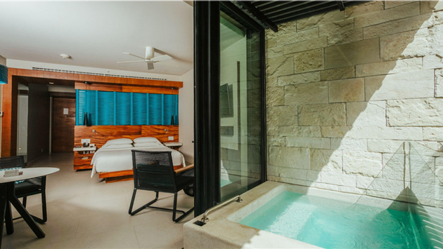 Plunge Pool Suite at Grand Hyatt Playa del Carmen, Mexico.