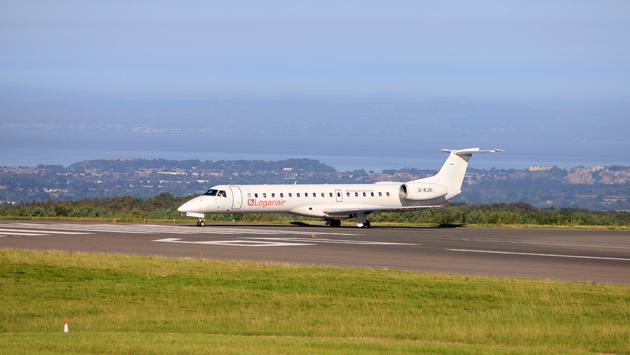 Loganair Embraer aircraft in the UK