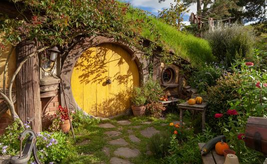 Hobbit House in Hobbiton, Shire, Matamata New Zealand