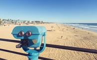 Binoculars at the Huntington Beach Pier, California
