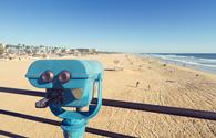 Binoculars at the Huntington Beach Pier, California