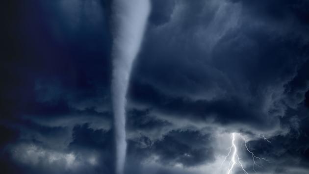 tornado, lightning, stormy sky