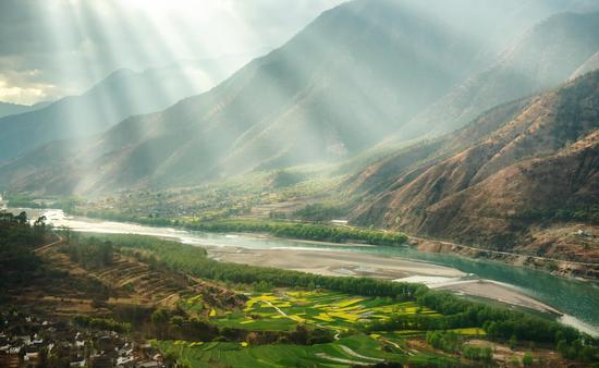 Yangtze River in Yunnan Province, China