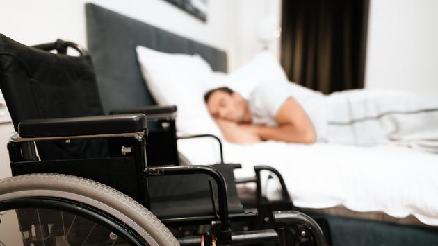wheelchair, hotel, bed, sleeping, accessible, disabilities