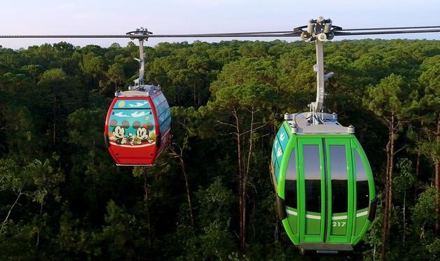Disney Skyliner Aerial View