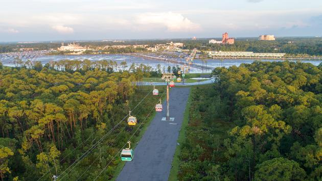 Disney Skyliner Aerial View