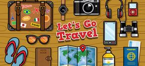 Travel graphic cartoon