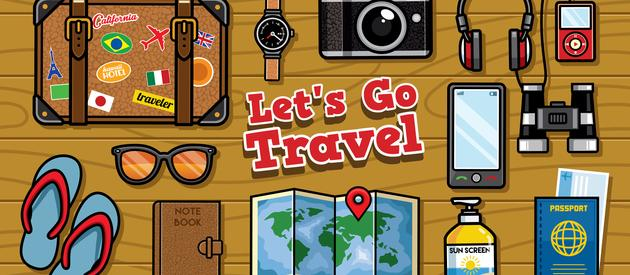 Travel graphic cartoon