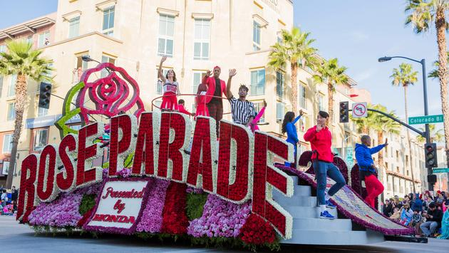 The Rose Parade in Pasadena is famous for their floats full of flowers