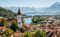 Thun, Switzerland, town, mountains