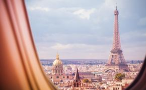 Eiffel Tower, Paris, City, Airplane Window