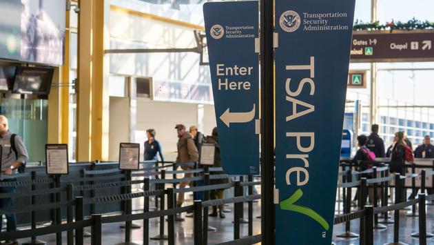 TSA PreCheck lane at Reagan National Airport
