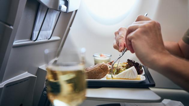 The return of in-flight food and beverage service.
