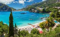 Beautiful Paleokastritsa beach on Corfu, Kerkyra, Greece