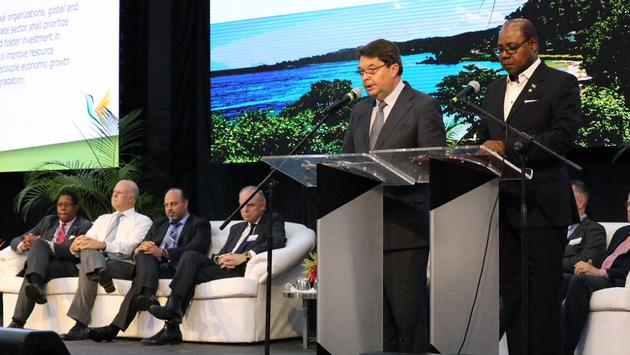 Carlos Vogeler, executive director of UNTWO, and Jamaican Tourism Minister Edmund Bartlett, introduced and put into effect the Montego Bay Accord.