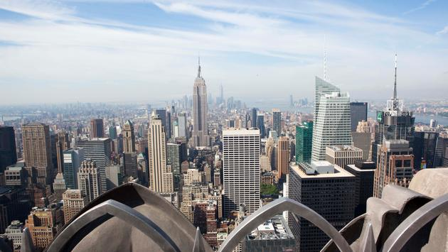 A view from the Top of the Rockefeller Center in New York City
