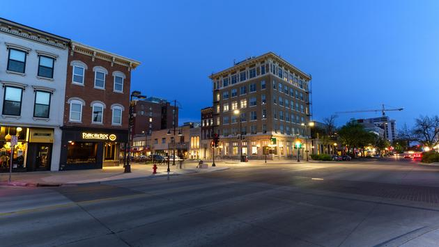 Downtown Iowa City, Iowa