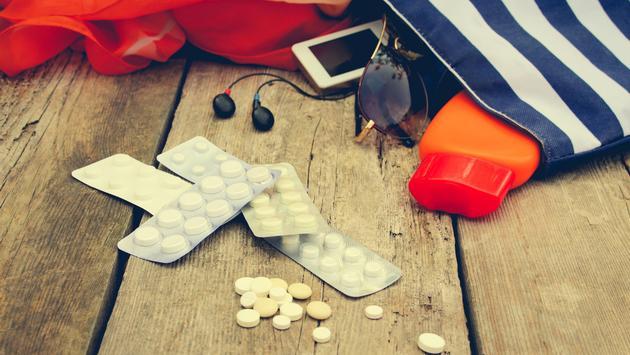 Bringing medications on vacation.