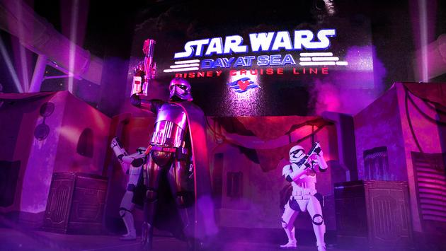 "The ""Summon the Force"" deck party, part of Star Wars Day at Sea"