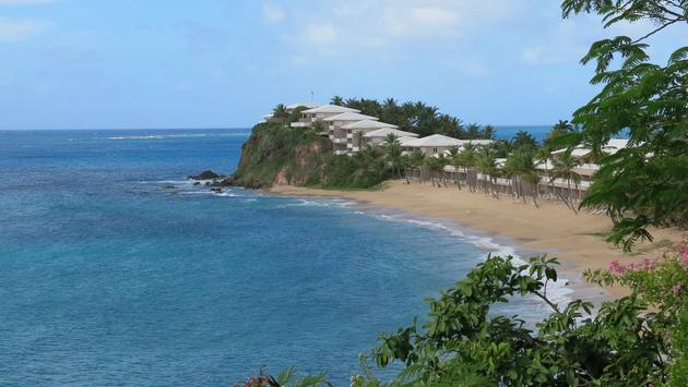 A beach resort on Antigua