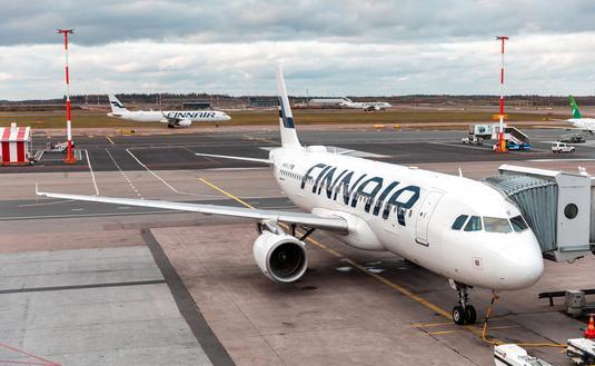 Finnair plane at Helsinki Airport
