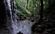 A waterfall on Dominica