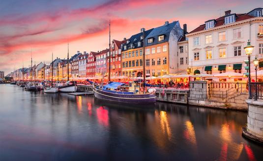 Nyhavn, Copenhagen, Denmark, Europe, City, Boats