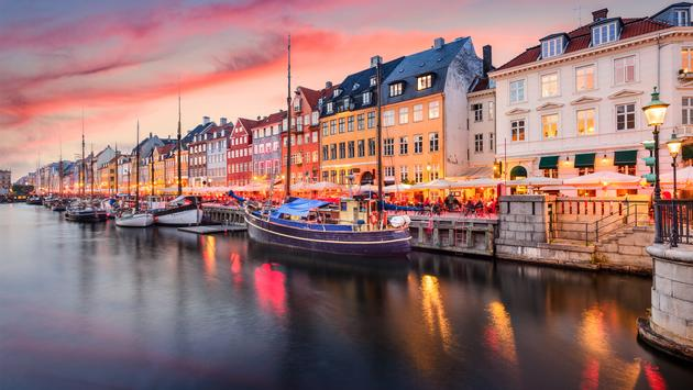 Nyhavn, Copenhagen, Denmark, Europe, City, Boats