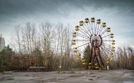 Abandoned ferris wheel in amusement park in Pripyat, Ukraine, Chernobyl