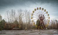 Abandoned ferris wheel in amusement park in Pripyat, Ukraine, Chernobyl