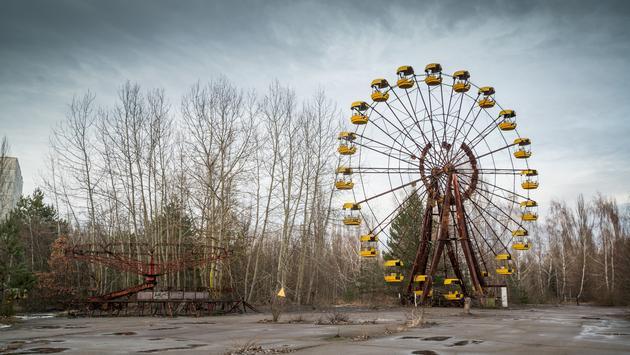 FOTO: Rueda de la fortuna abandonada en Pripyat, Ucrania. (Foto de Pe3check/iStock/Getty Images Plus)