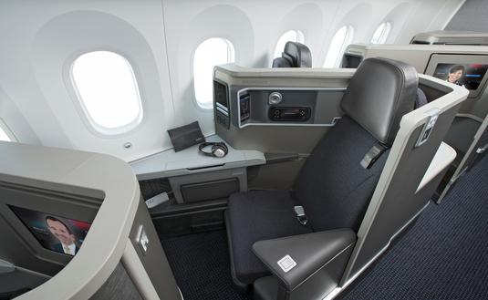 American Airlines Boeing 787 Dreamliner First Class Amenities