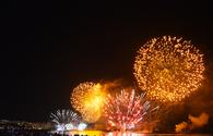 Fireworks in Valparaiso Chile
