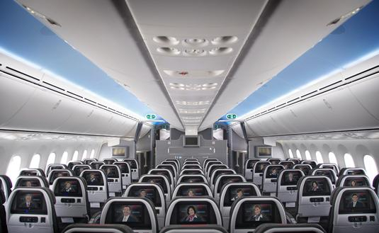 American Airlines Boeing 787 Dreamliner Main Cabin Interior