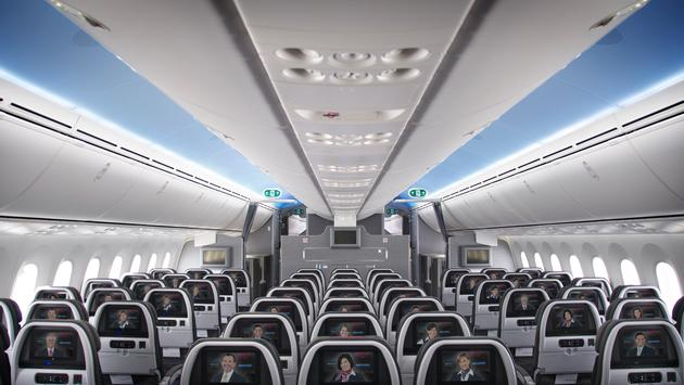 American Airlines Boeing 787 Dreamliner Main Cabin Interior