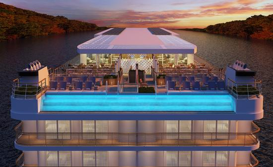 Viking Mississippi will feature a glass-backed pool experience at the aft