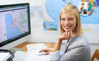 A travel agent planning an overseas trip, travel advisor