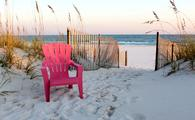 The pristine beaches of Gulf Shores, Alabama are situated alongside the Gulf of Mexico.