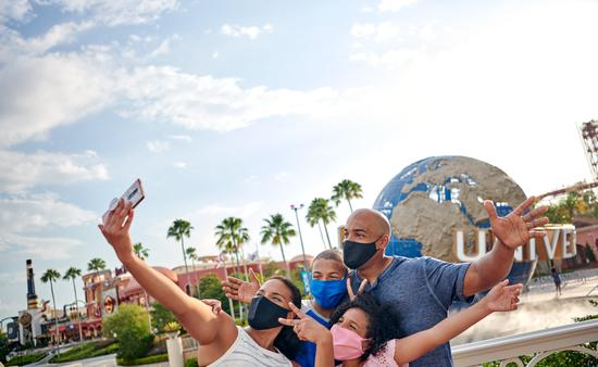 Family at Universal Orlando Resort.