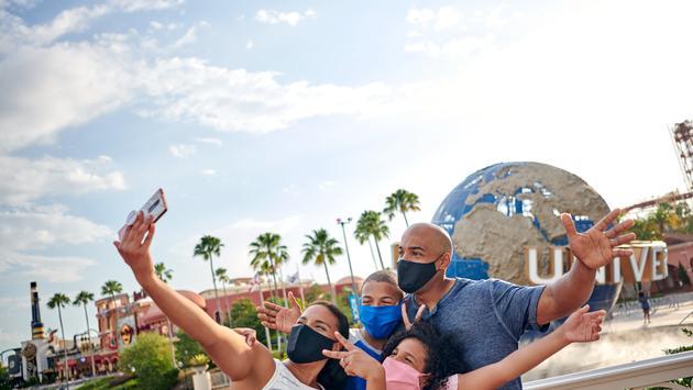 Family at Universal Orlando Resort.