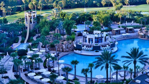 Falls Pool Oasis at Orlando World Center Marriott