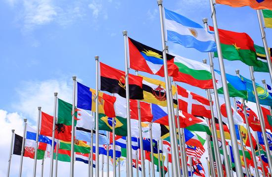 Flags from around the world.