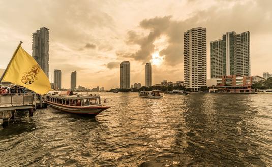 Four Seasons Hotel Bangkok at Chao Phraya River.