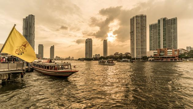 Four Seasons Hotel Bangkok at Chao Phraya River.