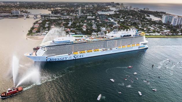 Odyssey of the Seas arrives at its homeport in Fort Lauderdale, Florida